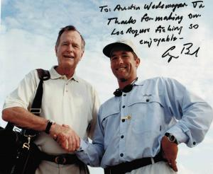 Austin with George Bush